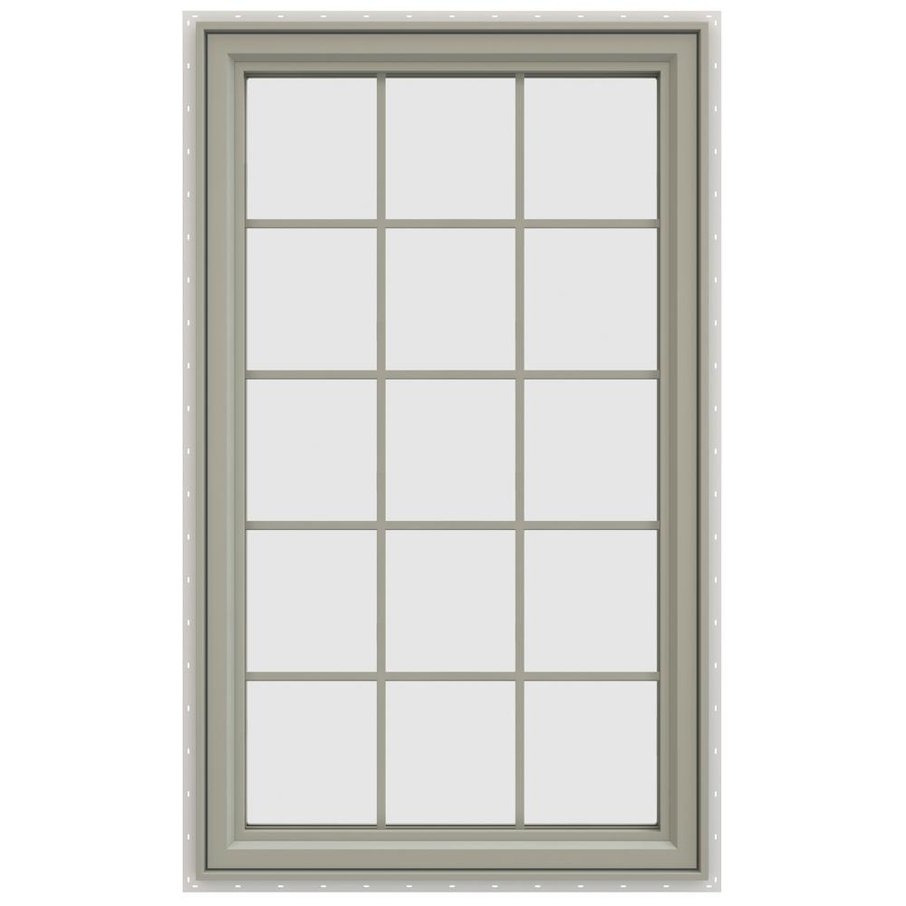 35.5 in. x 59.5 in. V-4500 Series Left-Hand Casement Vinyl Window