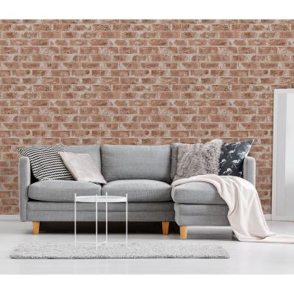 56.4 sq. ft. Jomax Red Warehouse Brick Wallpaper