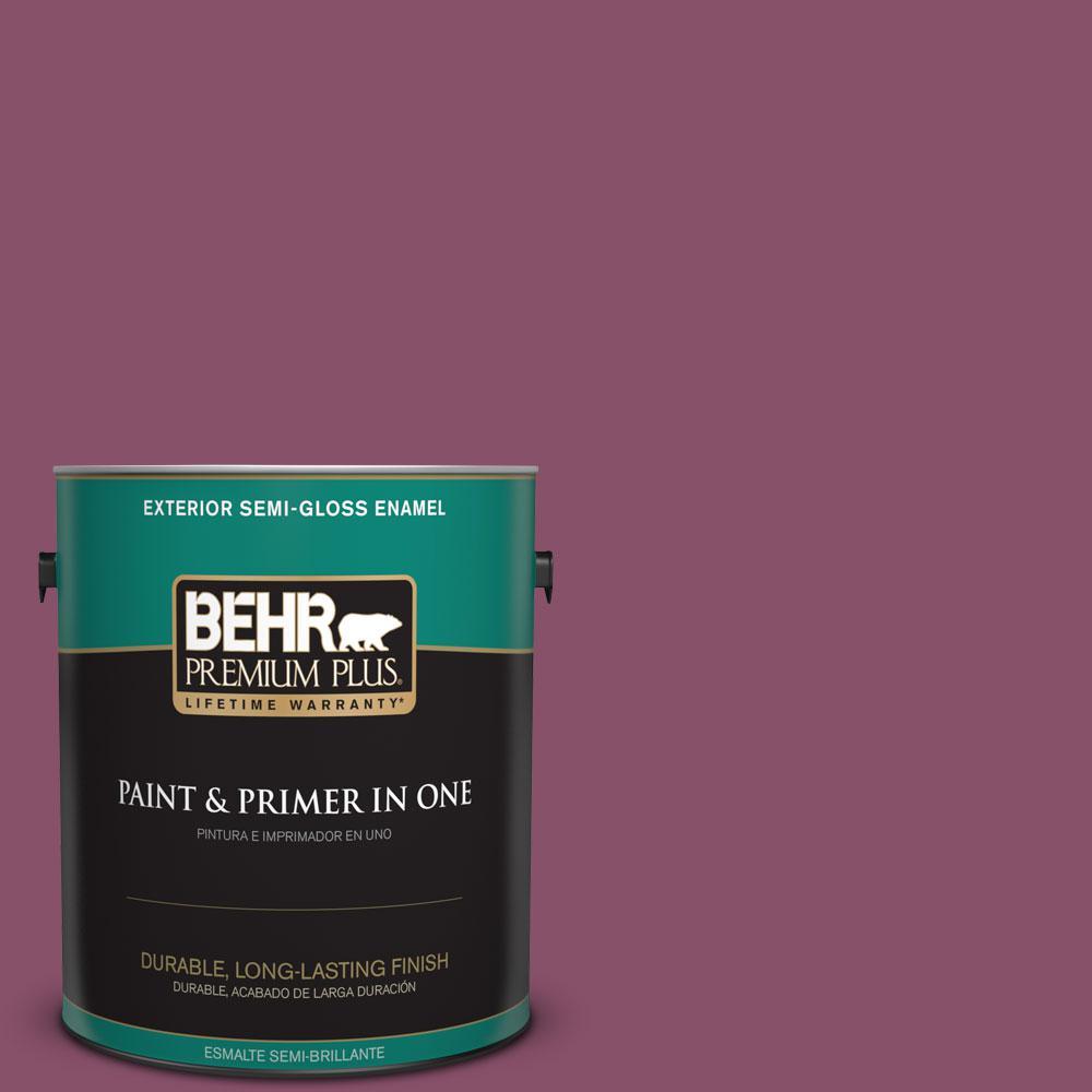 1-gal. #M120-7 Raspberry Crush Semi-Gloss Enamel Exterior Paint