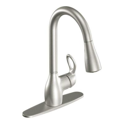 Kleo Single-Handle Pull-Down Sprayer Kitchen Faucet with Reflex and Power Clean in Spot Resist Stainless