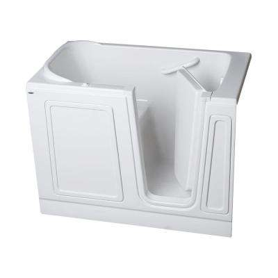 Acrylic Standard Series 51 in. x 30 in. Walk-In Air Bath Tub in White