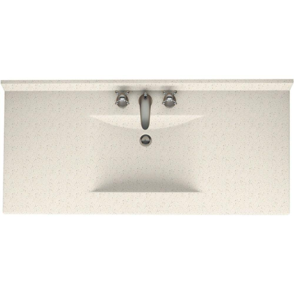 Swan Contour 43 in. Solid Surface Vanity Top with Basin in Tahiti Matrix