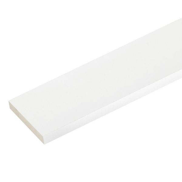 1 in. x 7-1/4 in. x 8 ft. White PVC Trim (2-Pack)