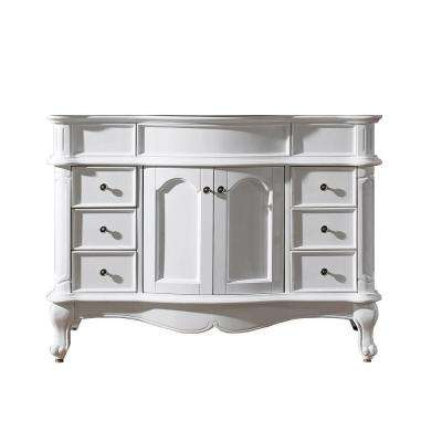 Norhaven 48 in. W Bath Vanity Cabinet Only in White