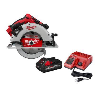 M18 18-Volt Lithium-Ion Brushless Cordless 7-1/4 in. Circular Saw W/ 3.0Ah Battery and Charger
