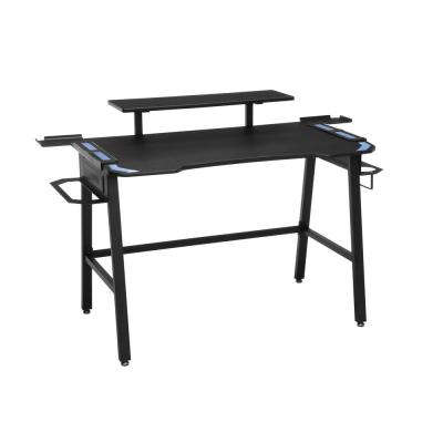 53 in. Rectangular Blue Computer Desk with Shelf