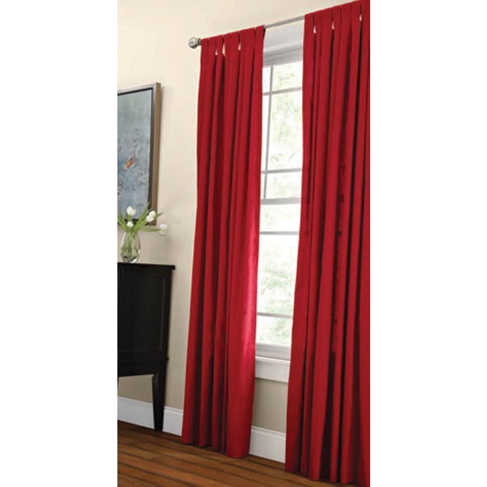 Martha Stewart Living Classic Cotton Light Filtering Window Panel in Vermillion - 50 in. W x 84 in. L