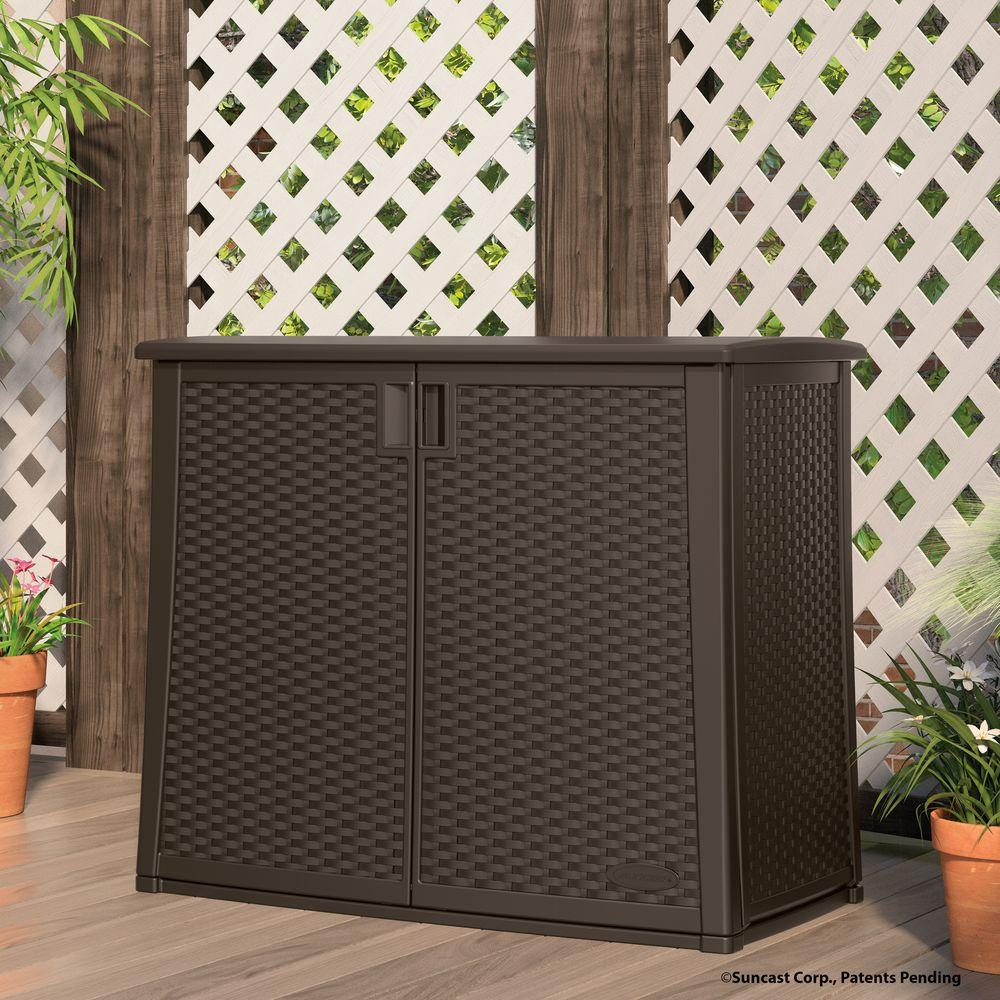 Suncast 42 25 In X 23 In Outdoor Patio Cabinet Bmoc4100 The