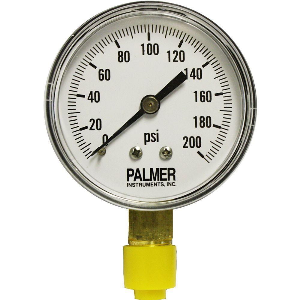 2.5 in. Dial 200 psi Painted Steel Case Utility Gauge