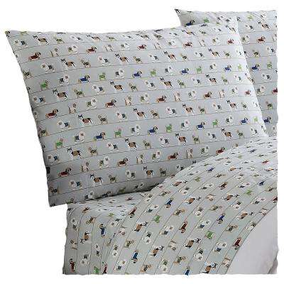 Everyday Printed Dogs Queen Sheet Set