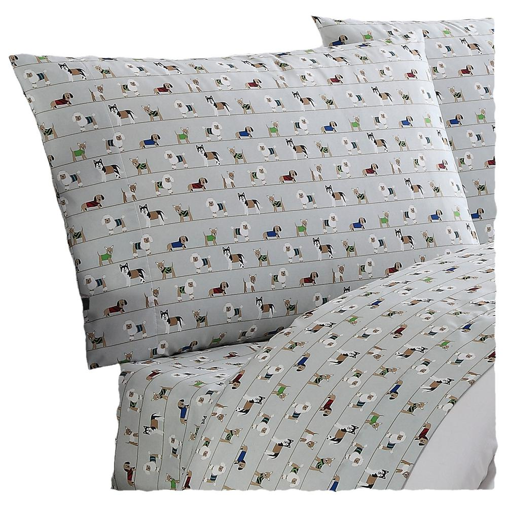 Truly Soft Everyday Printed Dogs Twin Xl Sheet Set
