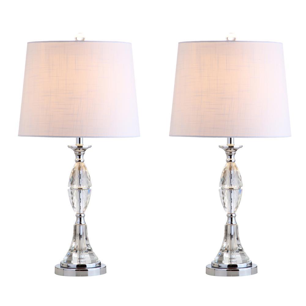 Jonathan Y Reid 25 5 In Crystal Table Lamp Clear Chrome