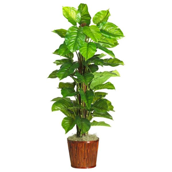 Nearly Natural 63 in. Large Leaf Philodendron Silk Plant (Real Touch)
