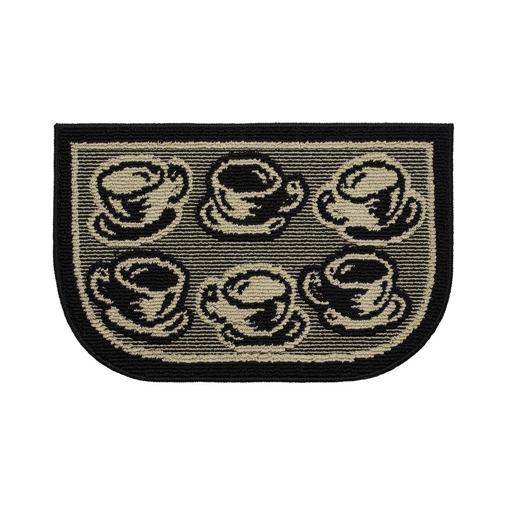 Structures Bed and Breakfast Coffee 18 in. x 30 in. Kitchen Rug