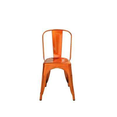 Jakia Glossy Orange Side Chair