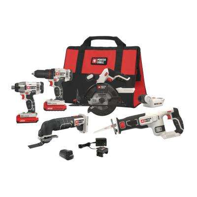 20-Volt MAX Lithium-Ion Cordless Combo Kit (6-Tool) with Free USB Charger