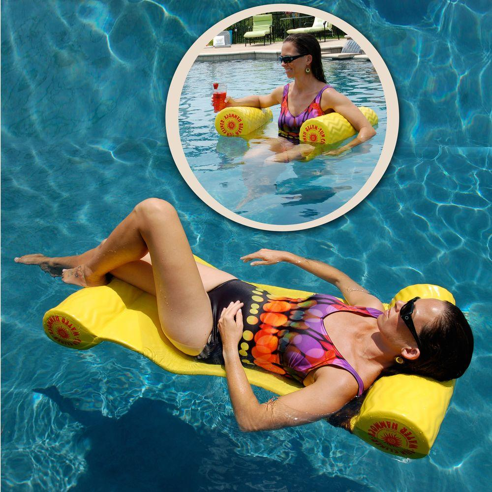 Super Soft Suncliner Yellow Pool Hammock