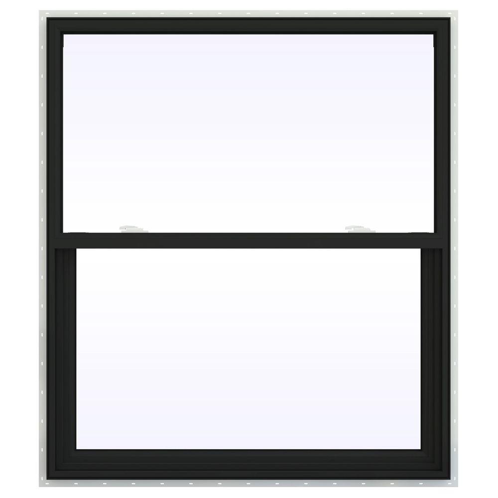 JELD-WEN 41.5 in. x 41.5 in. V-2500 Series Single Hung Vinyl Window - Bronze