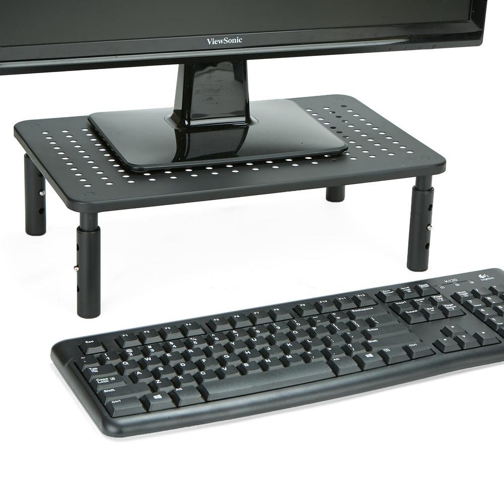 Mind Reader Rectangle Monitor Stand Ventilated Metal For