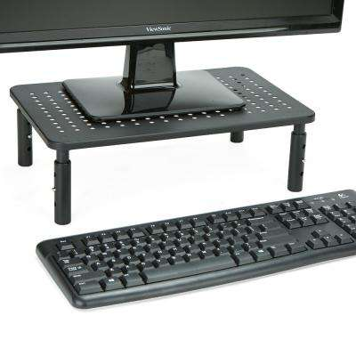 Rectangle Monitor Stand Ventilated Metal for Computer, Laptop,Monitor, Black