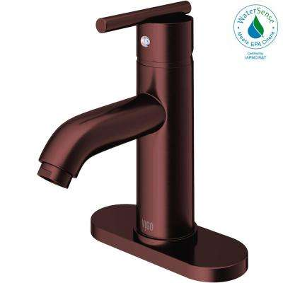 Triana Single Hole Single-Handle Bathroom Faucet in Oil Rubbed Bronze with Deck Plate