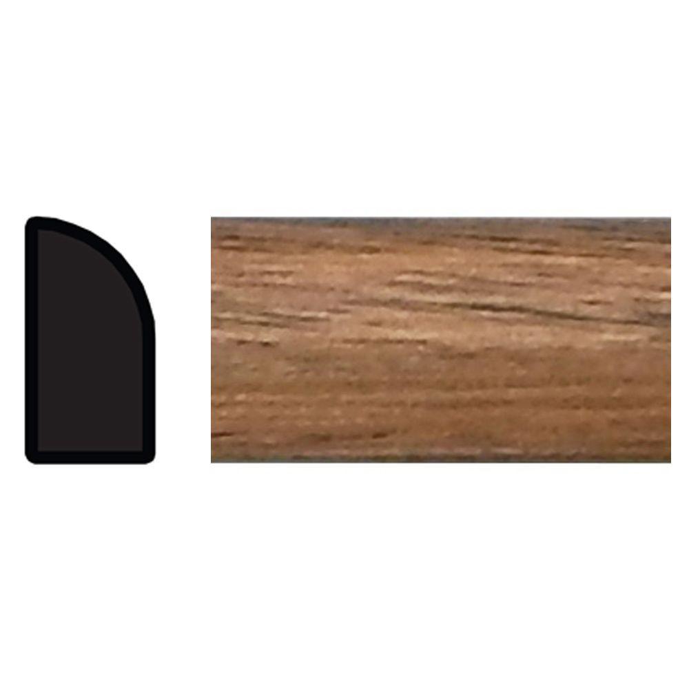 TRIMFINITY 1/4 in. x 1/2 in. x 96 in. Polystyrene Dark Oak Shoe Moulding