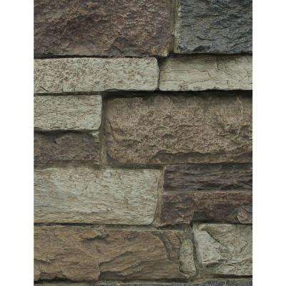 Rustic Lodge 8 in. x 8 in. x 3/4 in. Faux Mountain Ledge Stone Sample