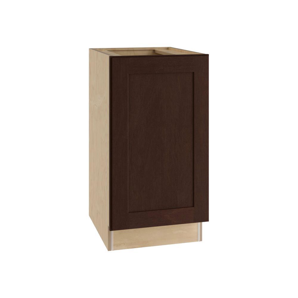 Franklin Assembled 18x34.5x24 in. Single Door Hinge Left Base Kitchen Cabinet