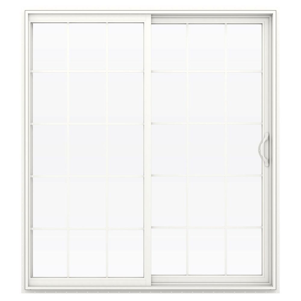 V 2500 Series Vinyl Sliding Patio Door With Grids