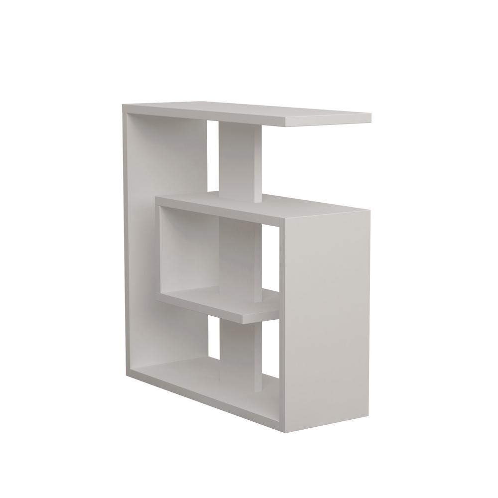 Stacy White Modern Side Table