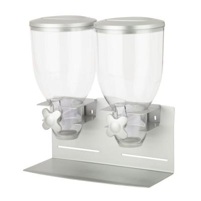 Pro Edition Double Dry Food Dispenser in Silver