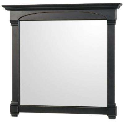 Andover 44 in. W x 41.25 in. H Framed Wall Mirror in Black