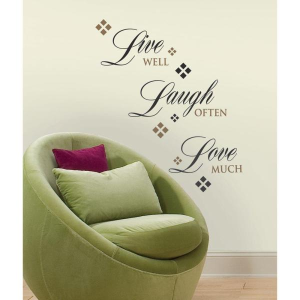 Roommates Roommates Live Love Laugh Peel And Stick 22 Piece Wall Decals Rmk1396scs The Home Depot
