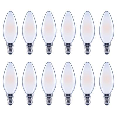 Ecosmart 40-Watt Equivalent B11 Candle Dimmable Energy Star Frosted Glass Filament Vintage LED Light Bulb Soft White...