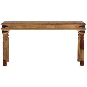 Fields 67 in. Weathered Brown Standard Rectangle Wood Console Table