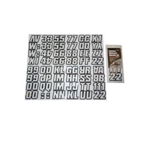 2 inch Factory Matched Snowmobile Registration Kits in White/Black by