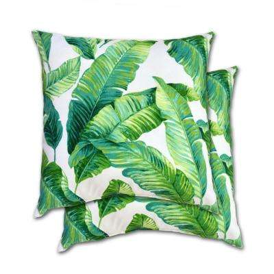 Hanalei Square Outdoor Throw Pillow (2-Pack)