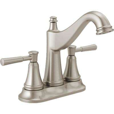Mylan 4 in. Centerset 2-Handle Bathroom Faucet in SpotShield Brushed Nickel