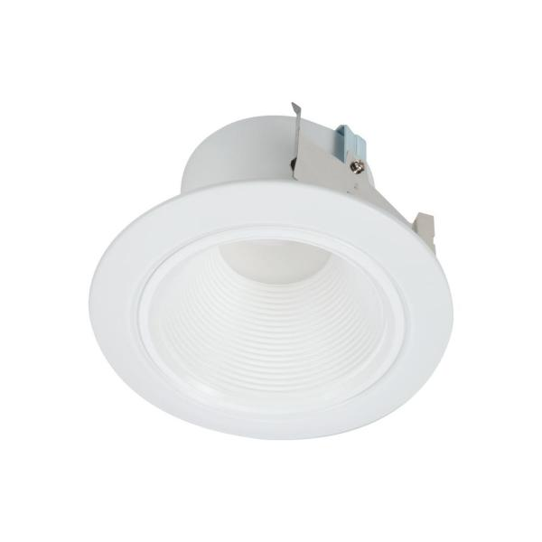 Halo Rl 4 In White Integrated Led Recessed Ceiling Light Retrofit Trim At 3000k Soft White Deep Baffle For Low Glare Rld4069301ewhr The Home Depot