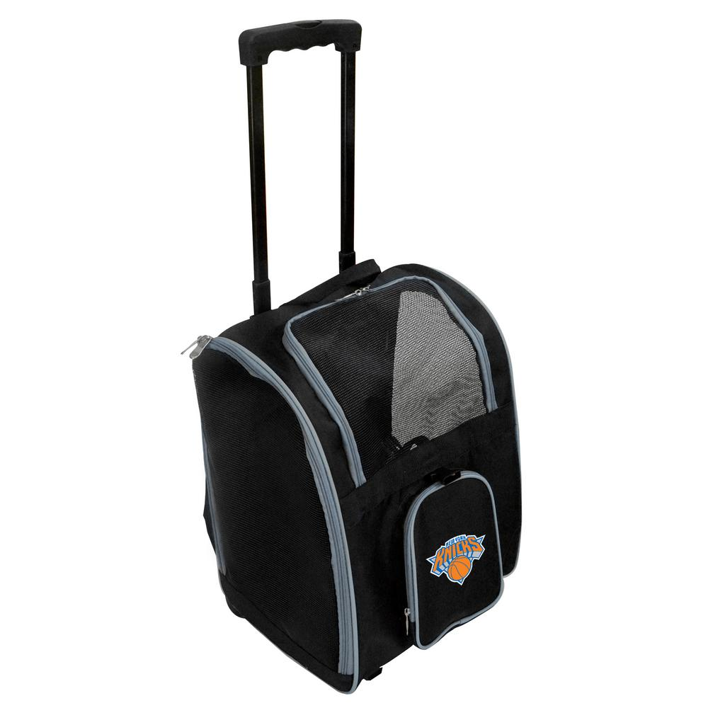 Denco NBA New York Knicks Pet Carrier Premium Bag with wheels in Gray 8b9bb7a4a