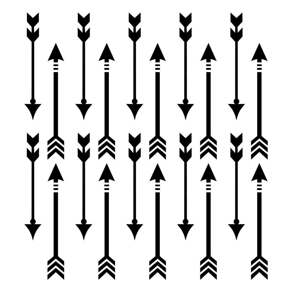 Arrow All Over Pattern Stencil (10 mil Plastic)