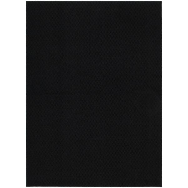 Town Square Black 6 ft. x 9 ft. Area Rug