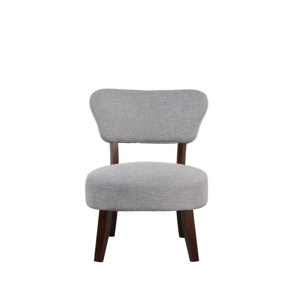 Gray Round Seat Accent Chair 92014-16GY