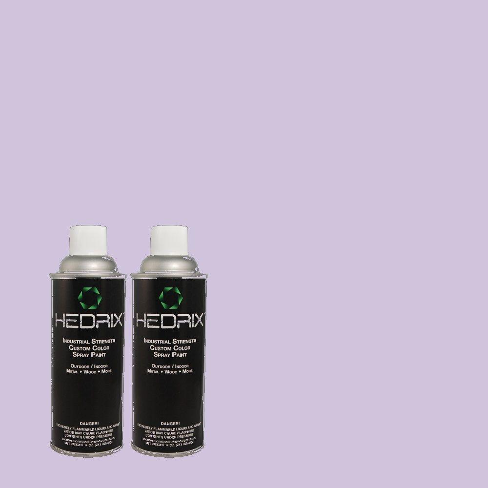 Hedrix 11 oz. Match of 630A-3 Weeping Wisteria Semi-Gloss Custom Spray Paint (2-Pack)