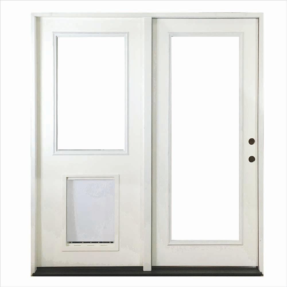 Steves sons 60 in x 80 in white prehung primed left for Patio entry doors