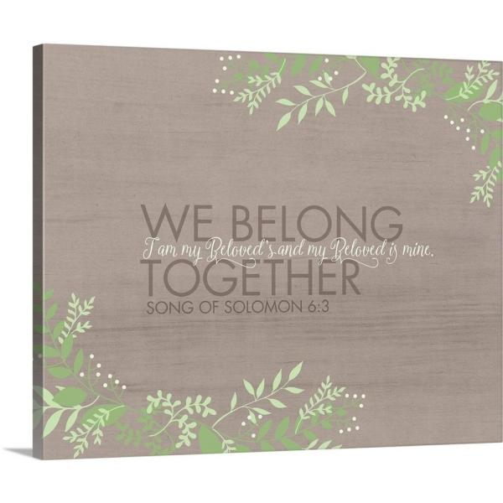 GreatBigCanvas 20 in. x 16 in. ''We Belong'' by Tammy Apple