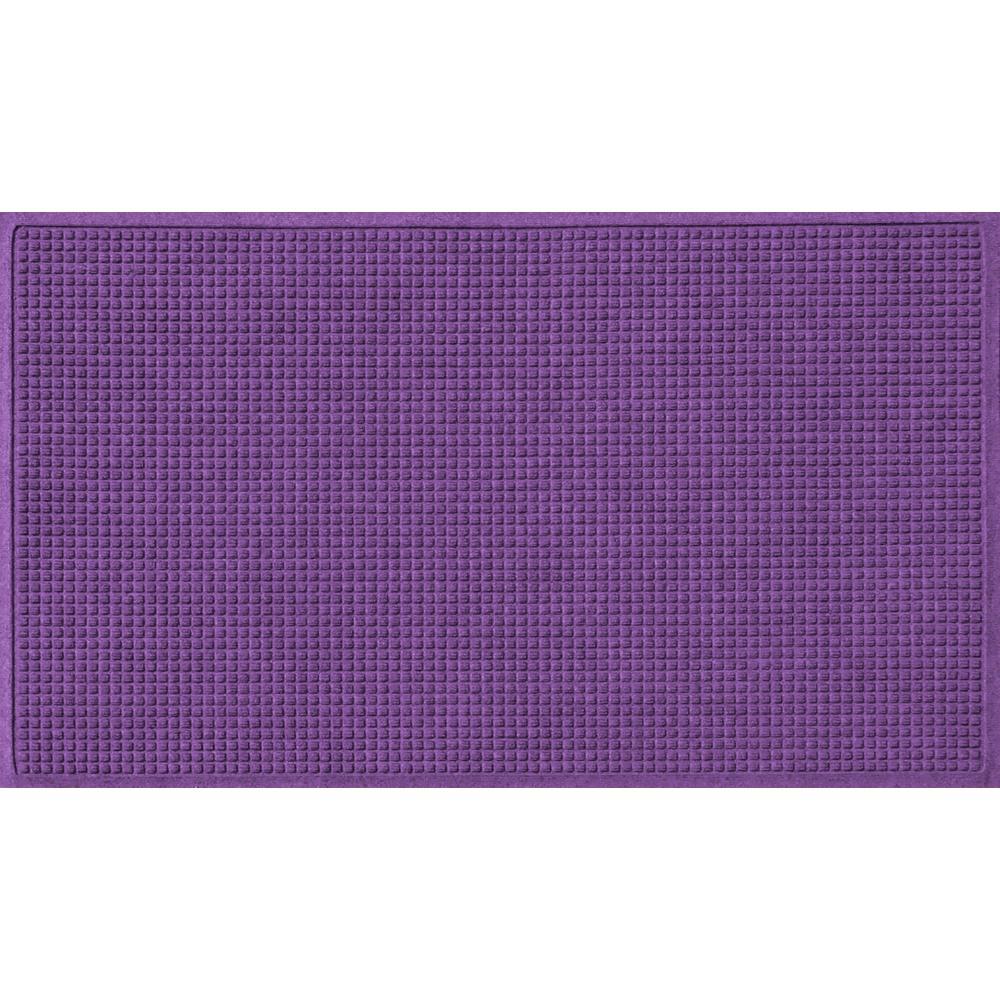 Purple 36 in. x 84 in. Squares Polypropylene Door Mat