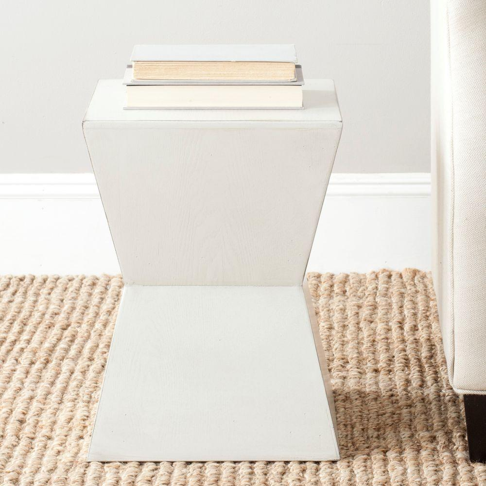 Safavieh Marilyn White End Table Amh6575a The Home Depot