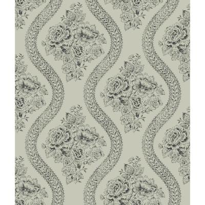 Heirloom Rose Paper Strippable Roll Wallpaper (Covers 56 sq. ft.)
