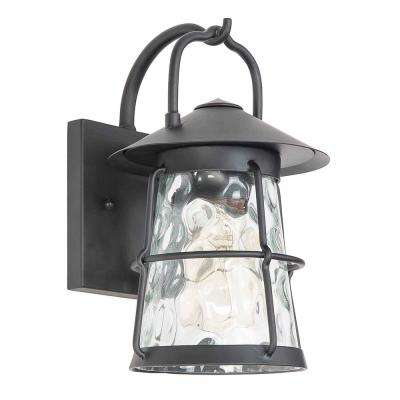 Taos Canyon 1-Light Matte Black Outdoor Wall Mount Lantern
